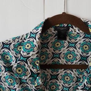 Ann Taylor silk/cotton button down
